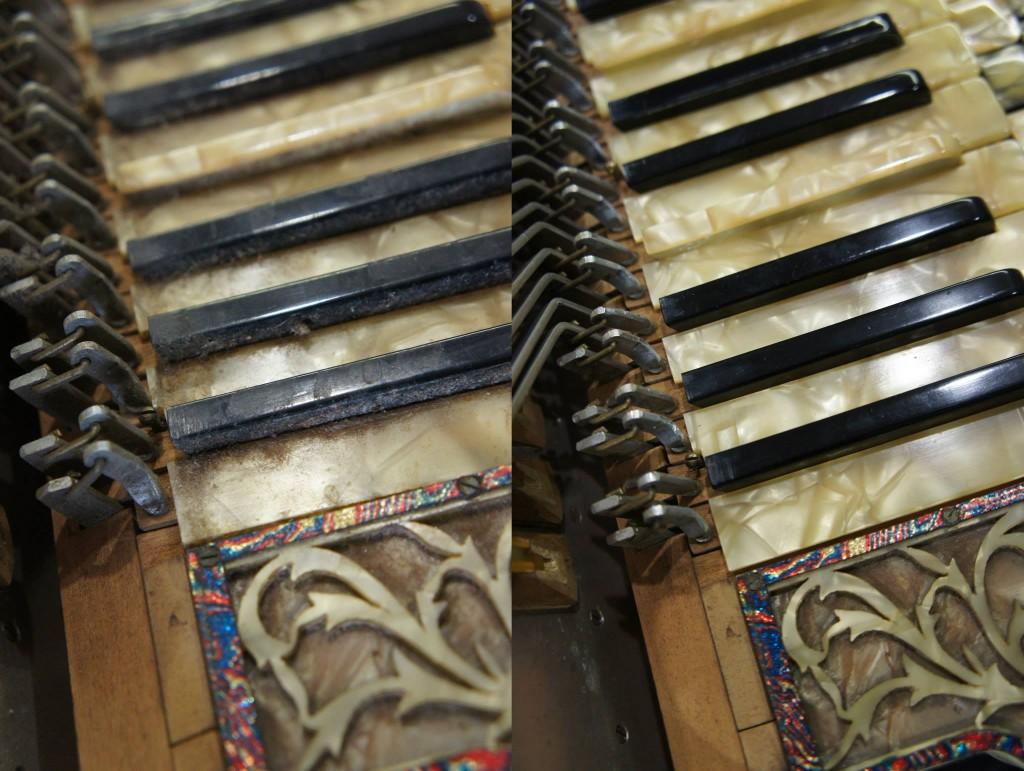 Vanhat soittimet ovat usein hyvin likaisia.